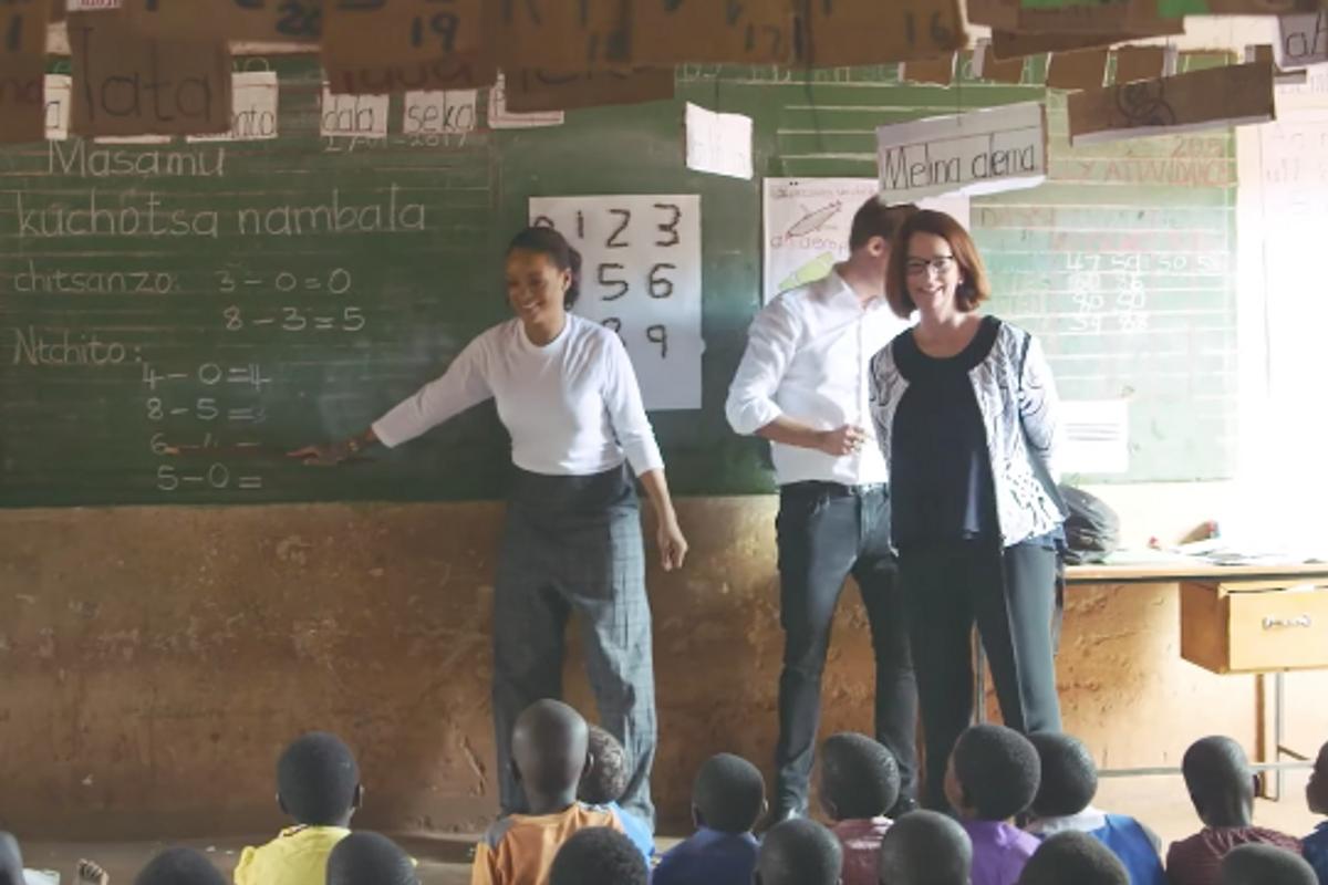 Watch Rihanna Visit School Kids in Malawi In New Documentary