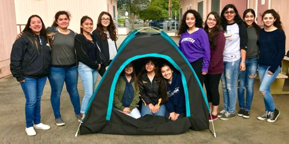 12 Girls Create Solar-Powered Tent to Tackle Homelessness