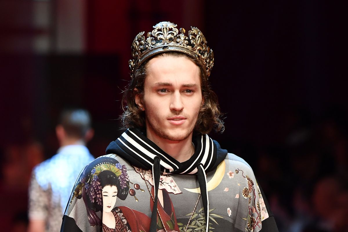 Braison Cyrus, of the Cyrus Clan, Walked in His First Show for Dolce & Gabbana