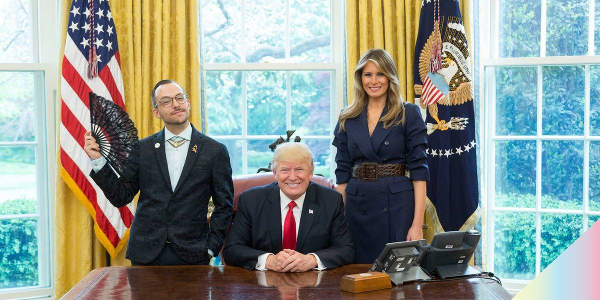 """""""Sassy"""" Teacher of the Year Poses with the Trumps, Thanks LGBT Community"""