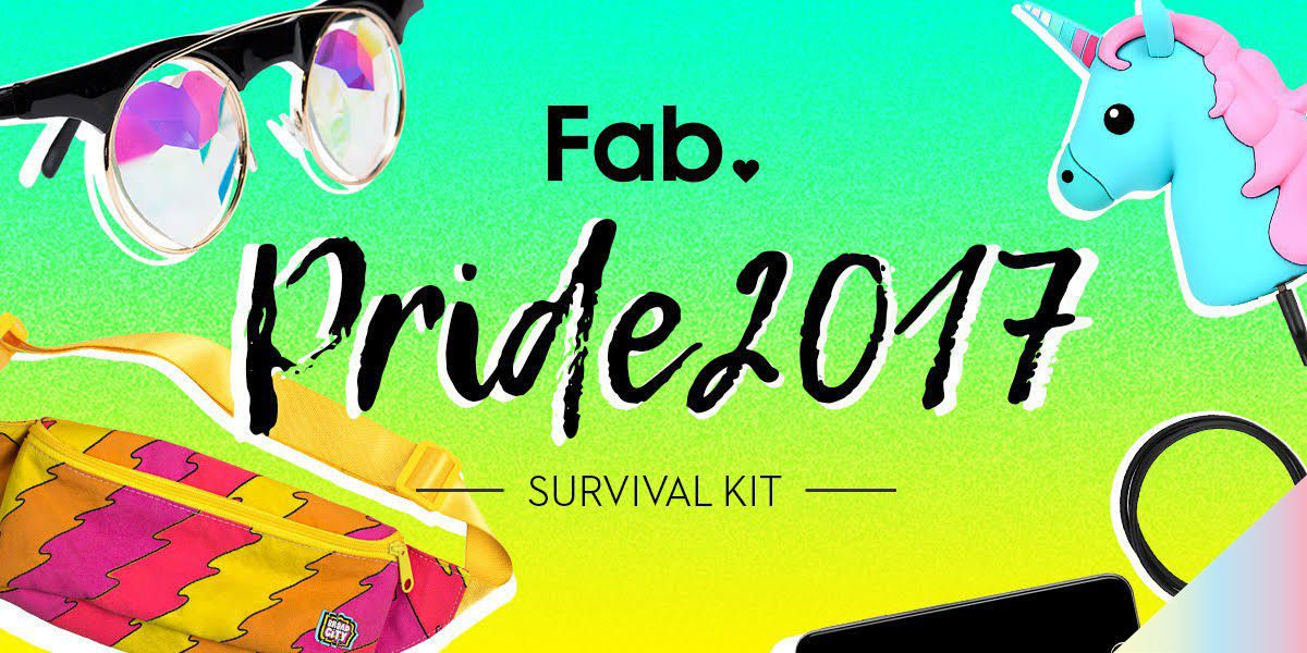 The Official Fab 2017 Pride Survival Kit