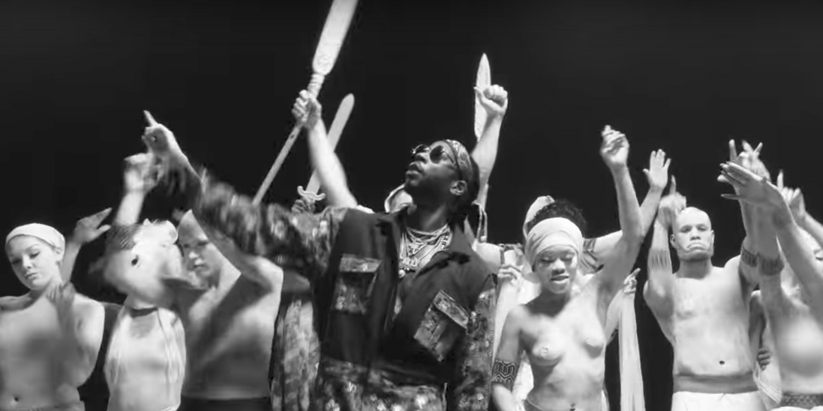 """2 Chainz Plays a Bloody Game of Human Chess in """"Trap Check"""""""
