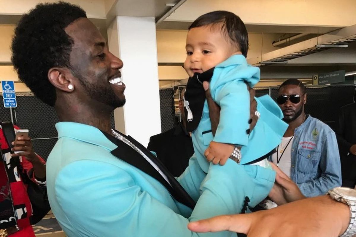 Gucci Mane and Baby Asahd Showed Up to the BET Awards in Matching Turquoise Tuxes