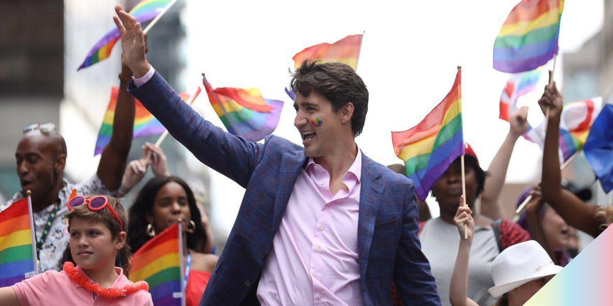Justin Trudeau Marches for Pride in Toronto
