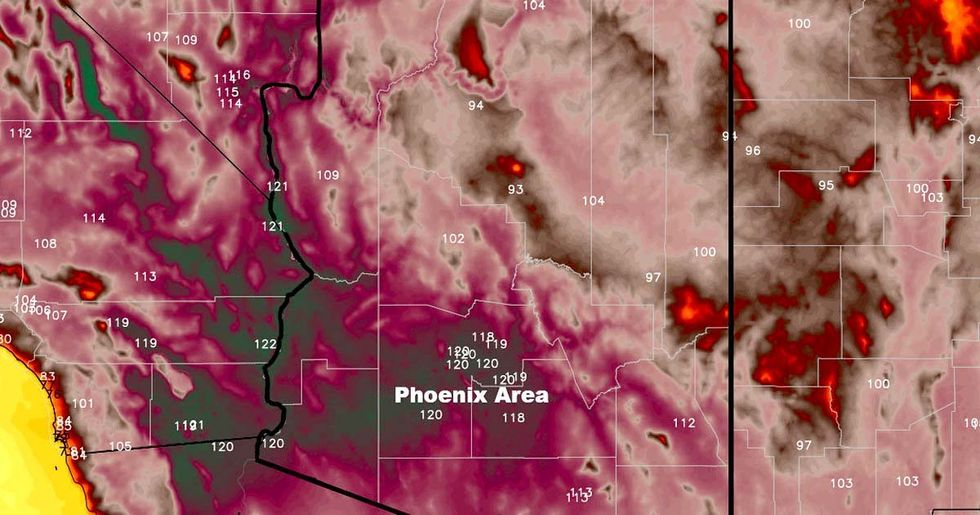 It's So Hot in Arizona, Meteorologists Need New Weather Map Colors