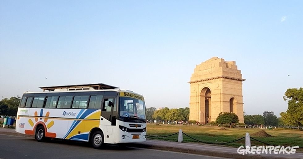 Find Out How This Bus Is Helping Ignite the Solar Revolution in New Delhi