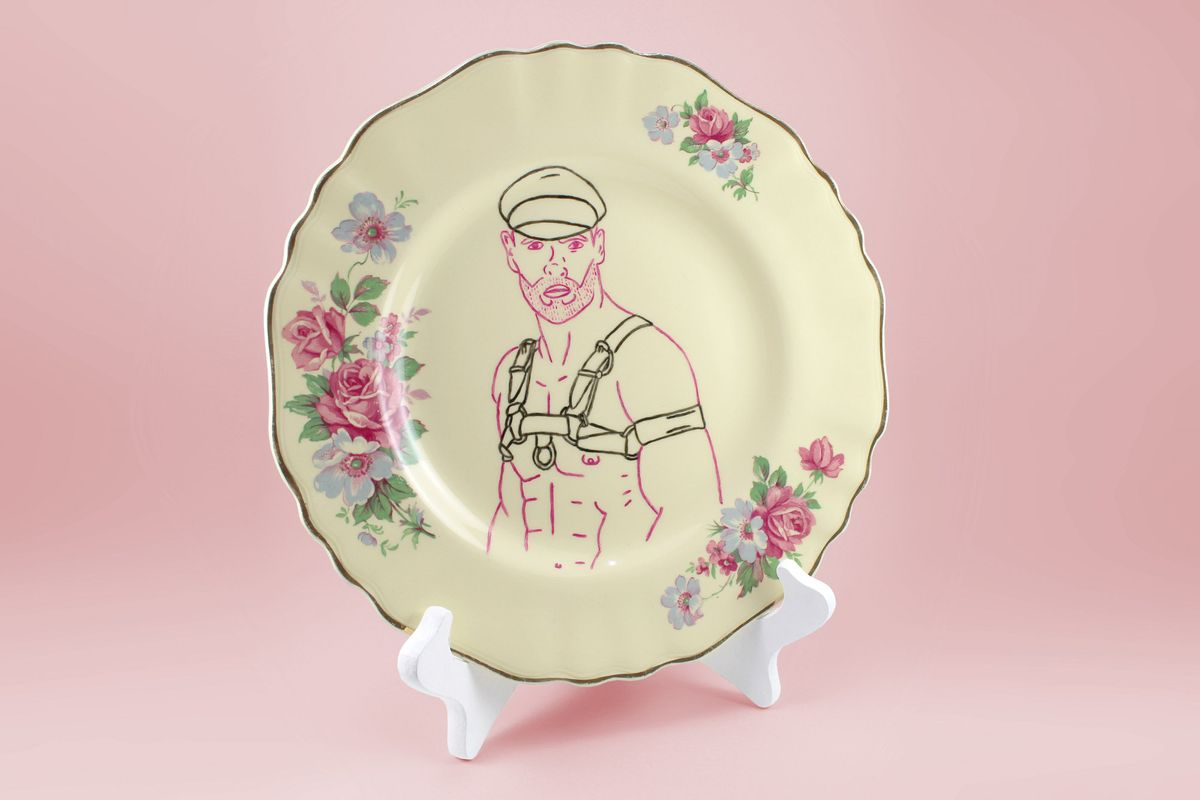 """Gag"" Bowls and Bondage-Print Plates: Meet the Duo Behind Pansy Ass Ceramics"