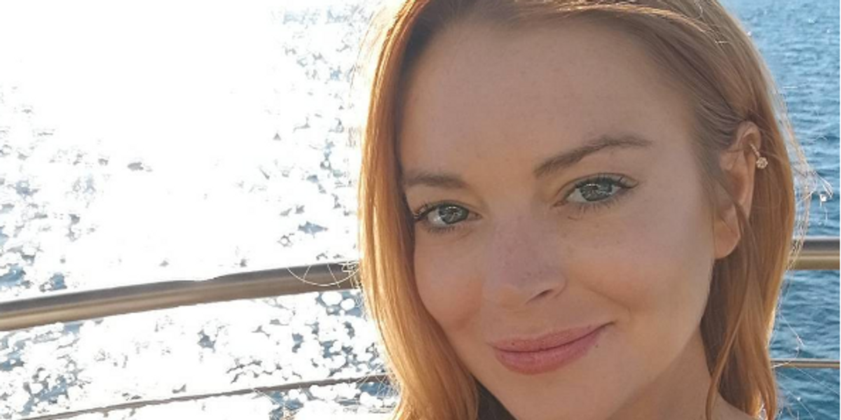 Lindsay Lohan Spent Her Fourth of July Pledging Allegiance to Trump