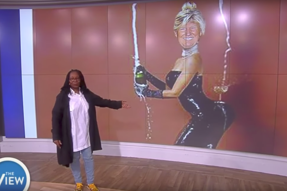 "'The View' Recreates Kim Kardashian's ""Break the Internet"" Cover with Donald Trump"