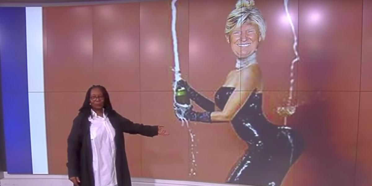 "'The View' Recreates Kim Kardashian's ""Break the Internet"" Cover with Donald Trump"