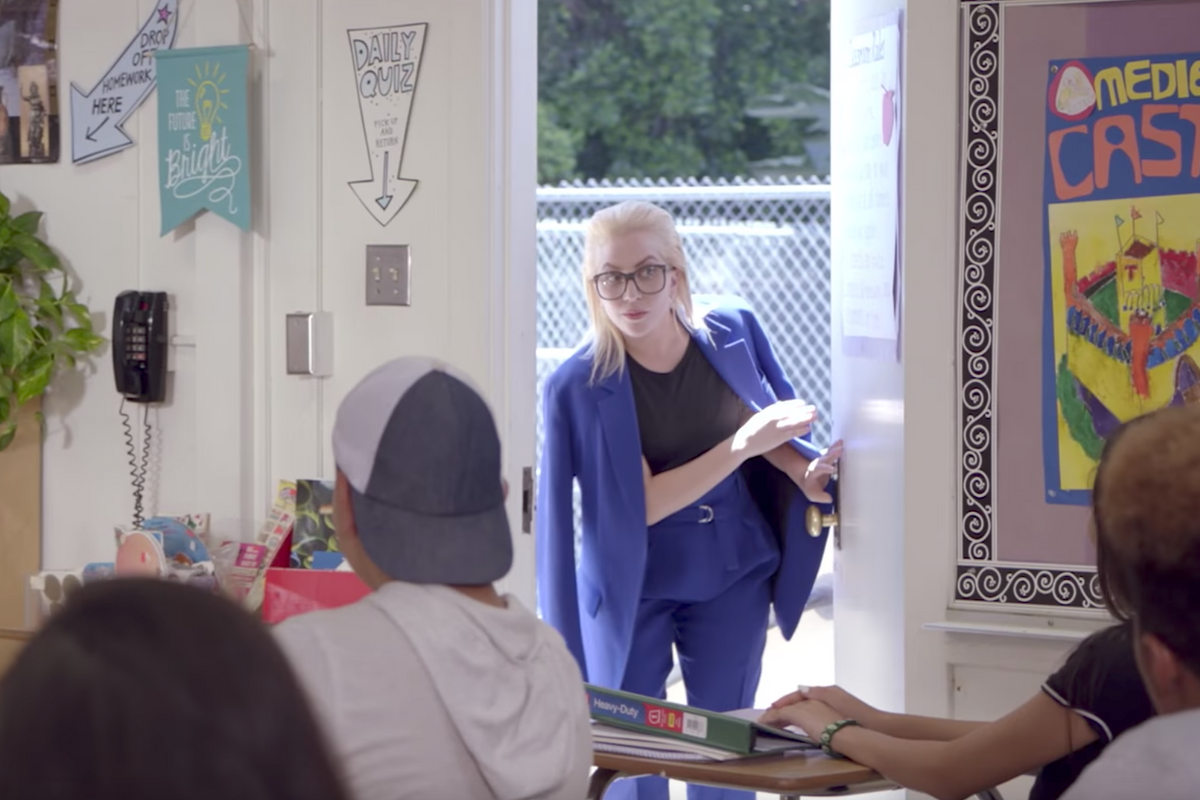 Lady Gaga Surprises A Classroom Of Kids, Pretending To Be Their Substitute Teacher