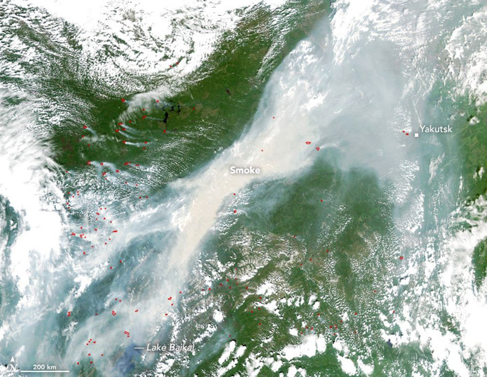 Siberian Wildfire Can Be Seen From Space as Earth's Boreal Forests Burn at Unprecedented Rates