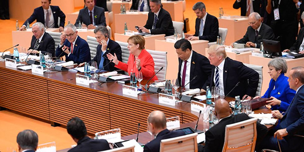 Trump on 'Direct Collision Course' With G20 Over Climate