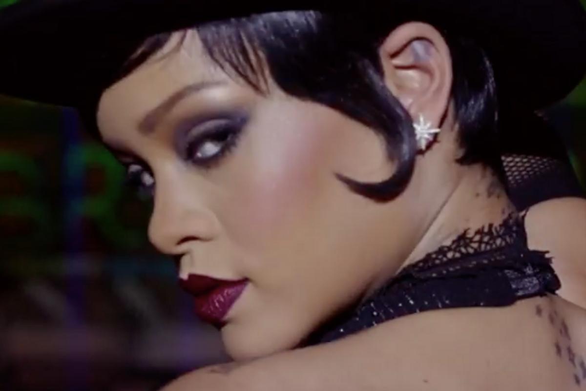 Watch Rihanna Get Into Character As An Extraterrestrial Stripper