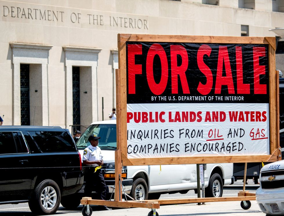 Public Lands and Waters 'For Sale' at U.S. Dept. of Interior
