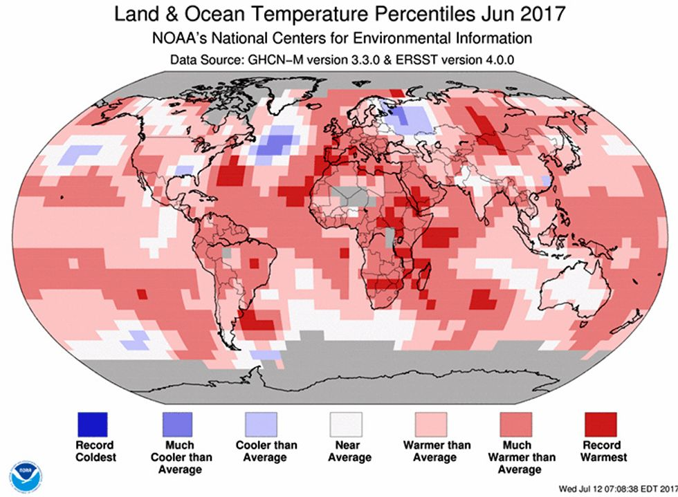 NOAA: Earth Had its Third Warmest June on Record