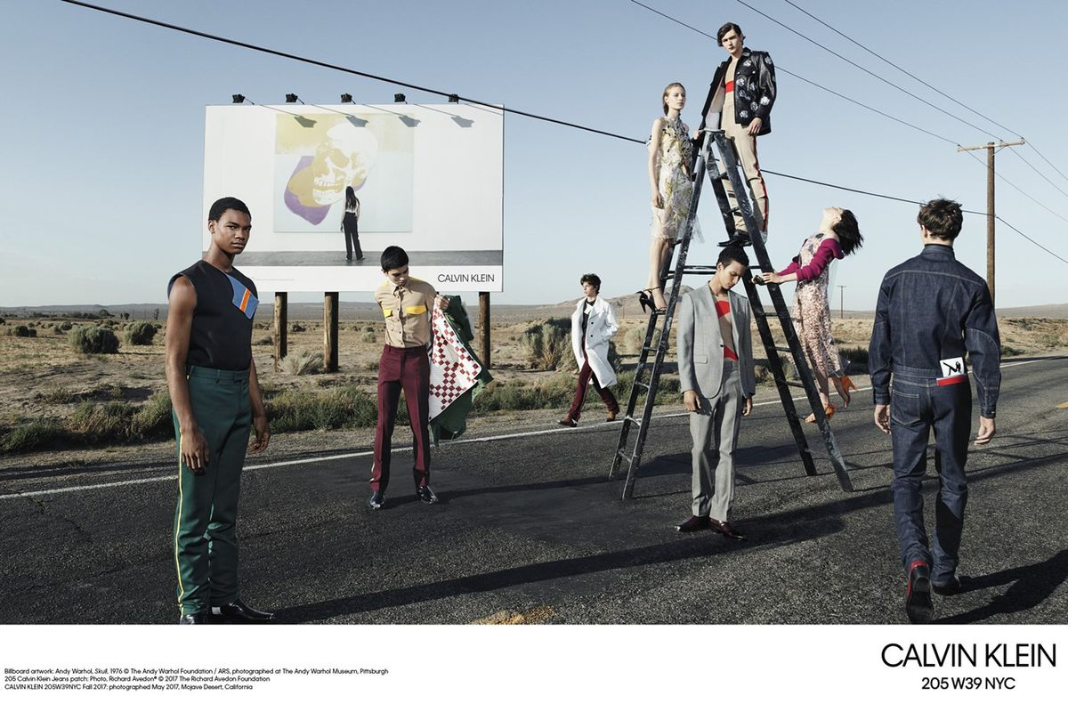 Raf Simons' Newest Campaign for Calvin Klein Is Super Meta, Naturally