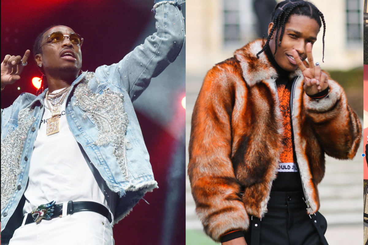 "A$AP Rocky, Quavo and Playboi Carti Go Full Fashion Show in New ""RAF"" video"