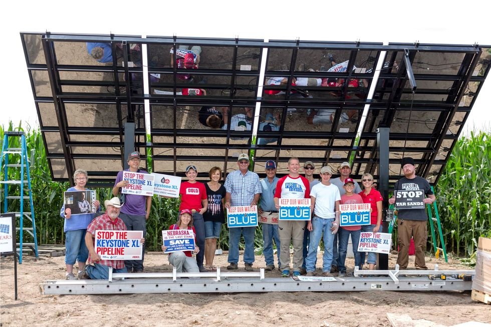 Keystone XL Pipeline in Limbo: Developer May Not Build as Landowners Put Solar Array on Proposed Route