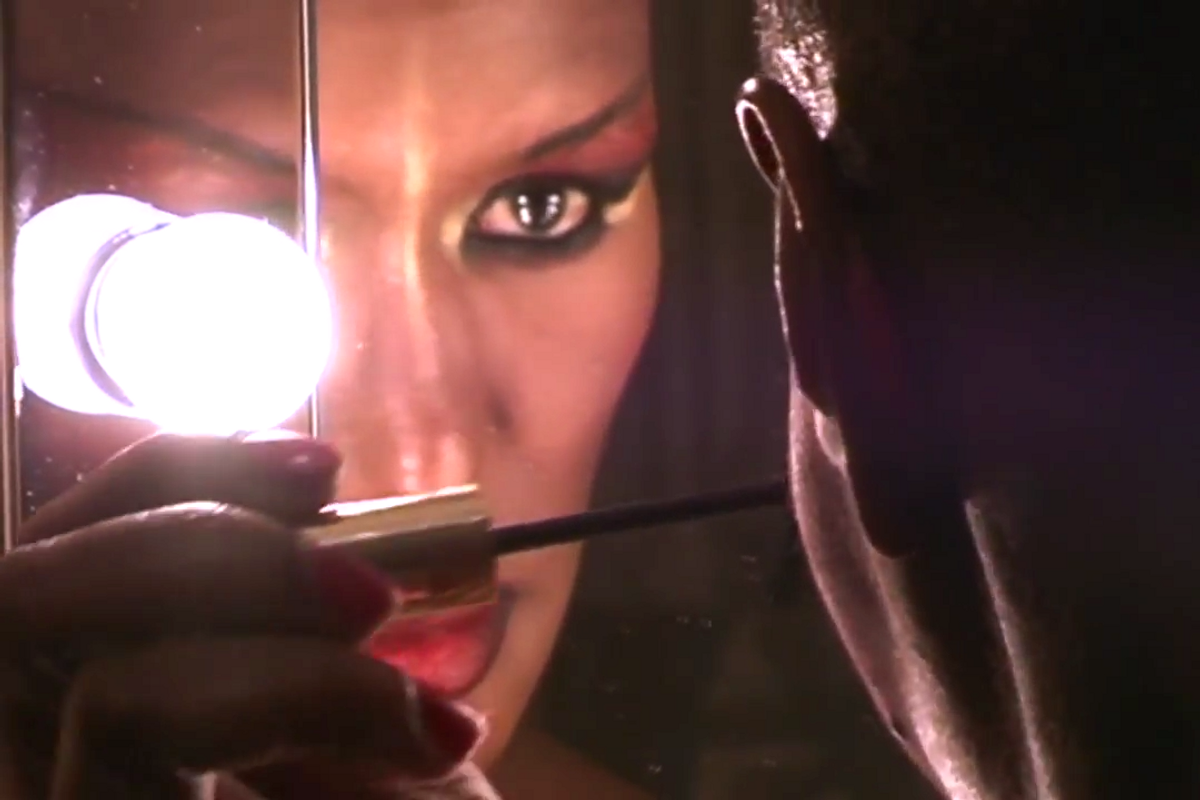 Watch a Hypnotizing Clip of Grace Jones Putting on Her Makeup