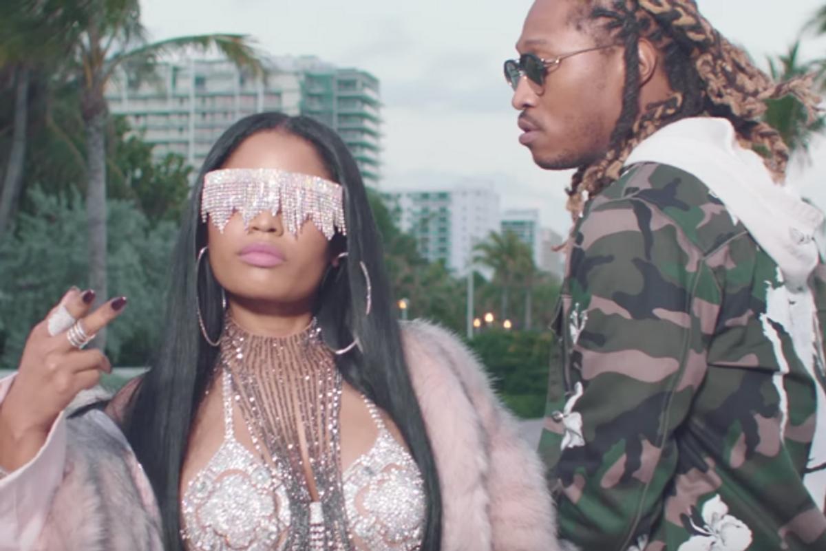 "Nicki Minaj is a Glittery Goddess in New ""You Da Baddest"" Video with Future"