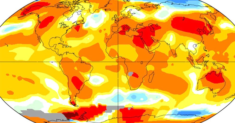 July Ties for Hottest Month on Record