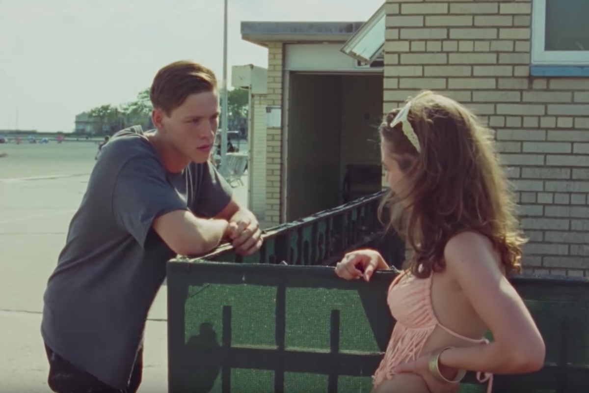 "Exclusive: Watch Two Teens Take the First Awkward Steps to Dating in Clip from ""Beach Rats"""