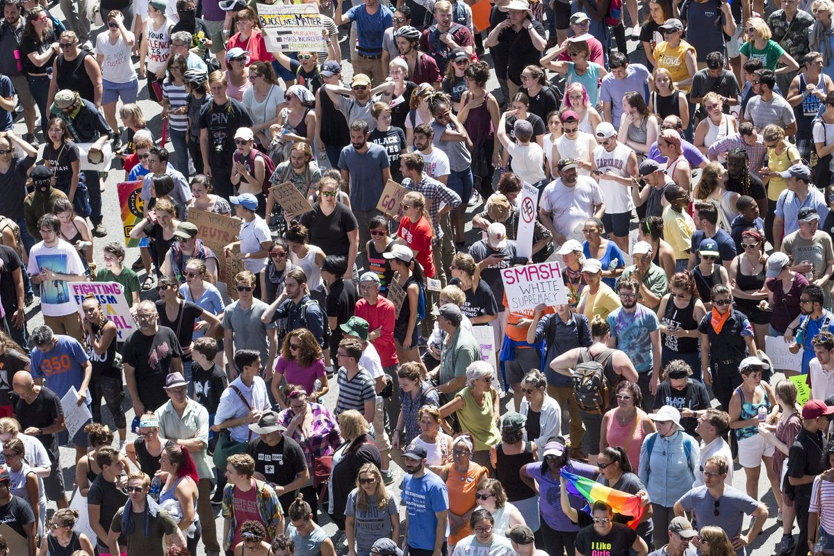 """15,000 March in Boston Against Right Wing """"Free Speech Rally"""""""