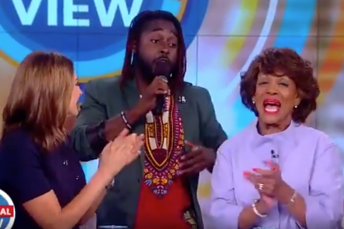 "Maxine Waters is Surprised with Viral ""Reclaiming My Time"" Gospel Singer on 'The View'"