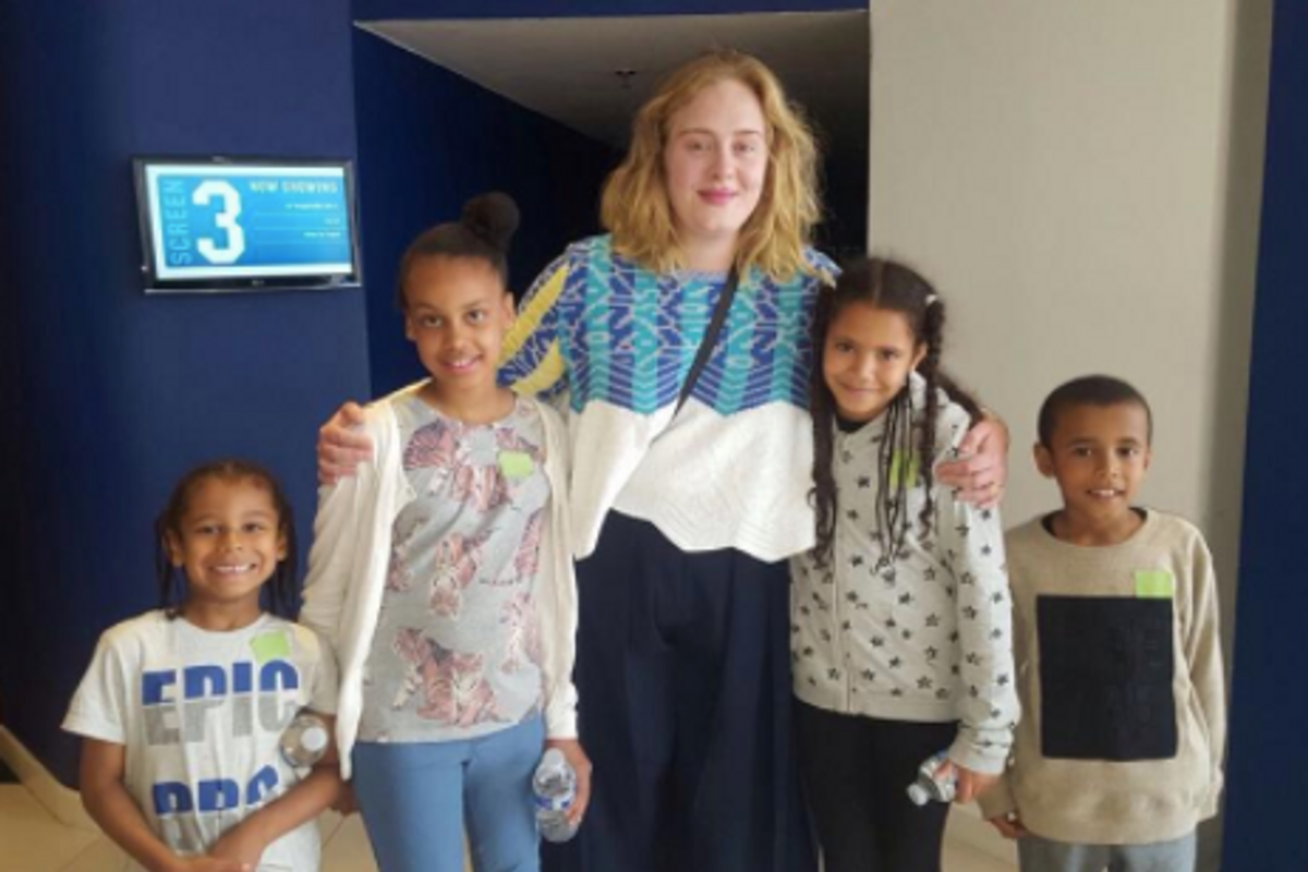 Adele Hosted a Movie Screening for Children Who Survived the Deadly Grenfell Tower Fire