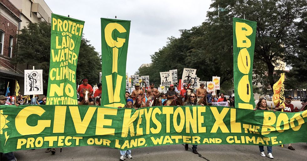 Massive Crowd Marches to Give 'KXL the Boot'