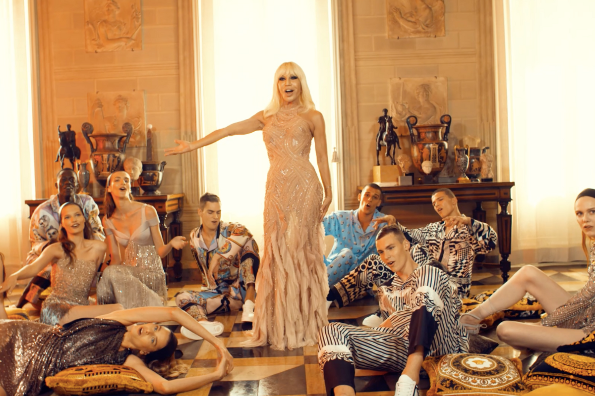 Watch Donatella Versace and Models Lip Sync a Love Letter to Bruno Mars