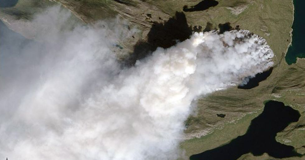Largest Ever Wildfire in Greenland Continues to Burn, Can Be Seen From Space