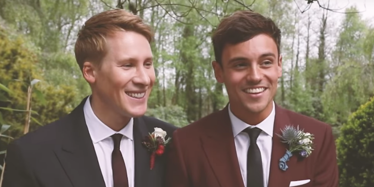 Be Deeply Jealous of Tom Daley and Dustin Lance Black's Perfect Wedding Video