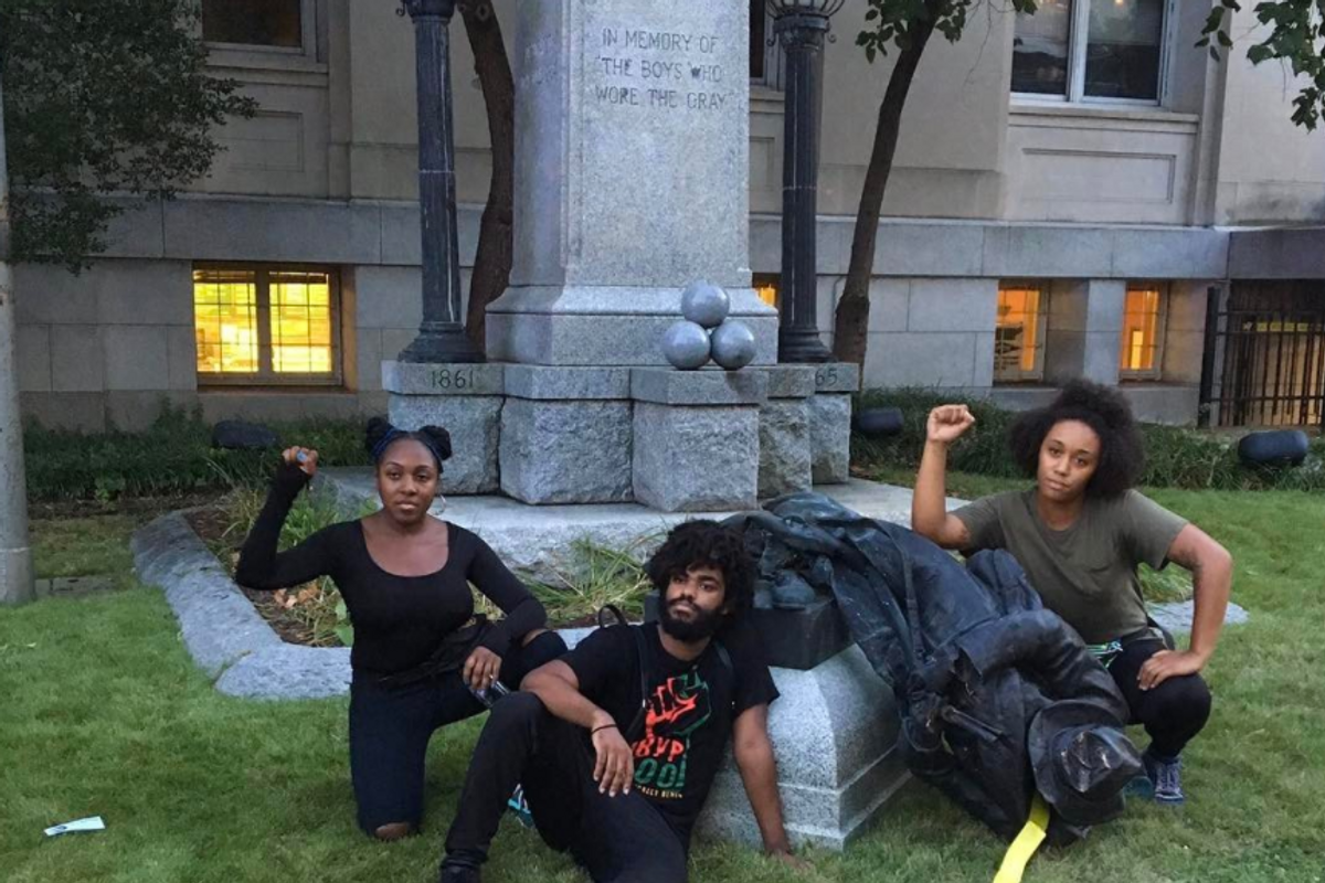 Watch Powerful Footage Of Activists Toppling A Confederate Statue In Durham Anti-Racism Rally