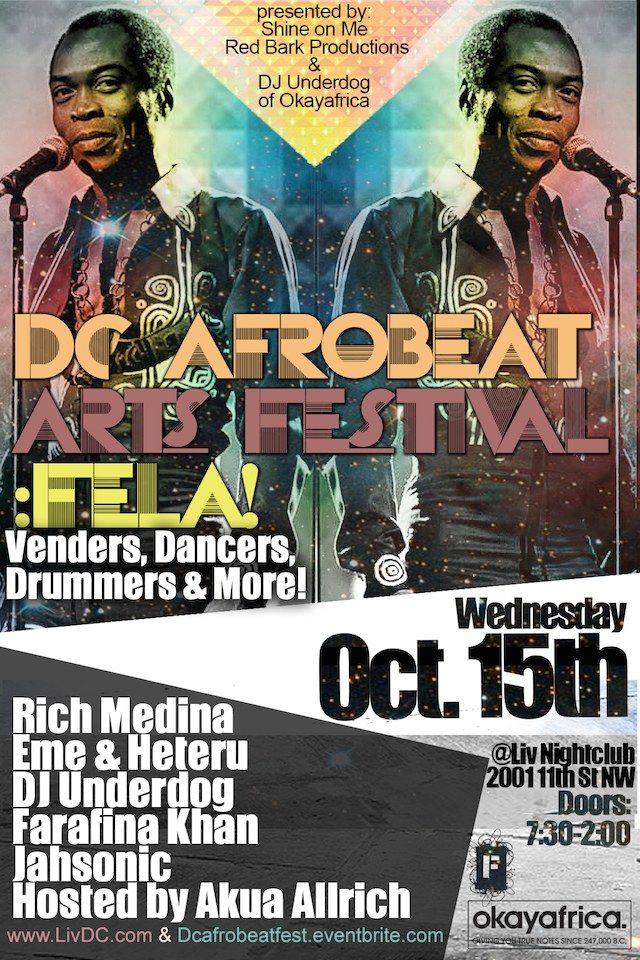 DC Afrobeat Arts Festival: Fela!' With Rich Medina & DJ