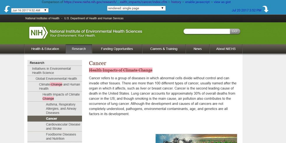 'Climate Change' Removed From National Institutes of Health Website
