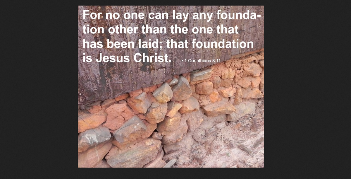 Build Your Foundation On Christ