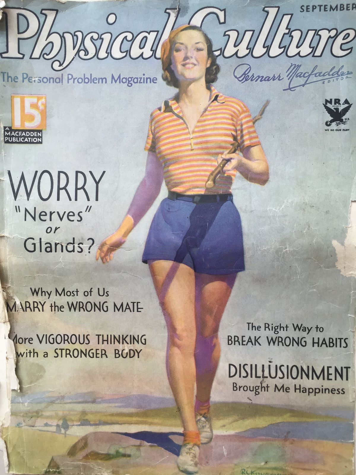 Photos And Articles From A 1934 Physical Culture Magazine