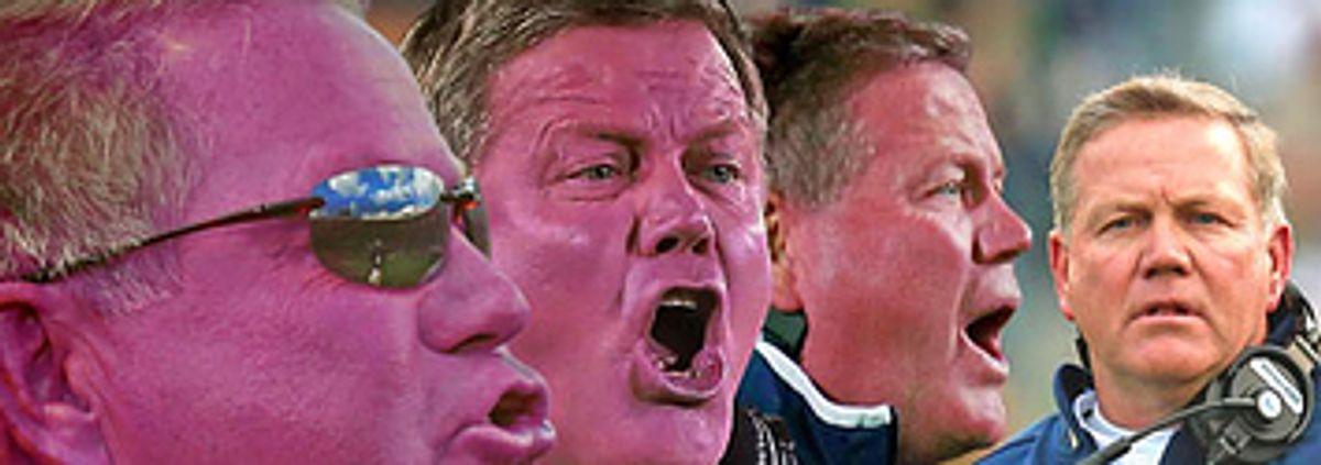 50 Shades Of Purple: Brian Kelly's Facial Hues