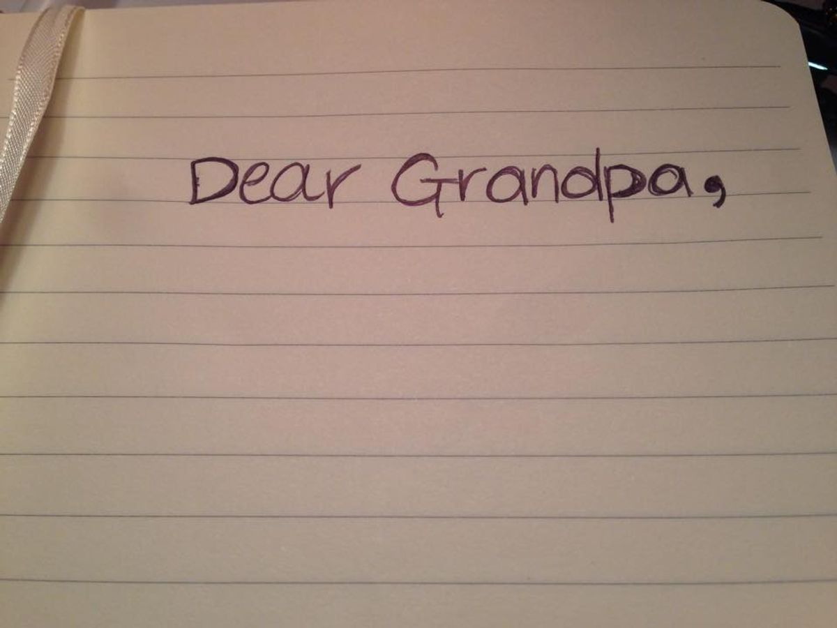 A Short Thank-You Letter To My Loving Grandfather