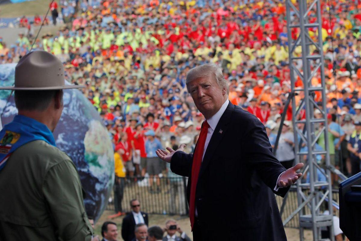 Trump Hijacks A BSA Jamboree and Young Minds