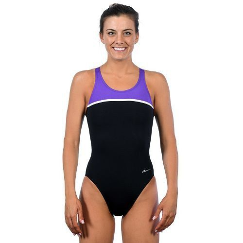 c88bab0978d9f The material in these swimsuits lasts longer than many fashion styles. This  swimsuit from Kohls combines a solid color with an accented strip.