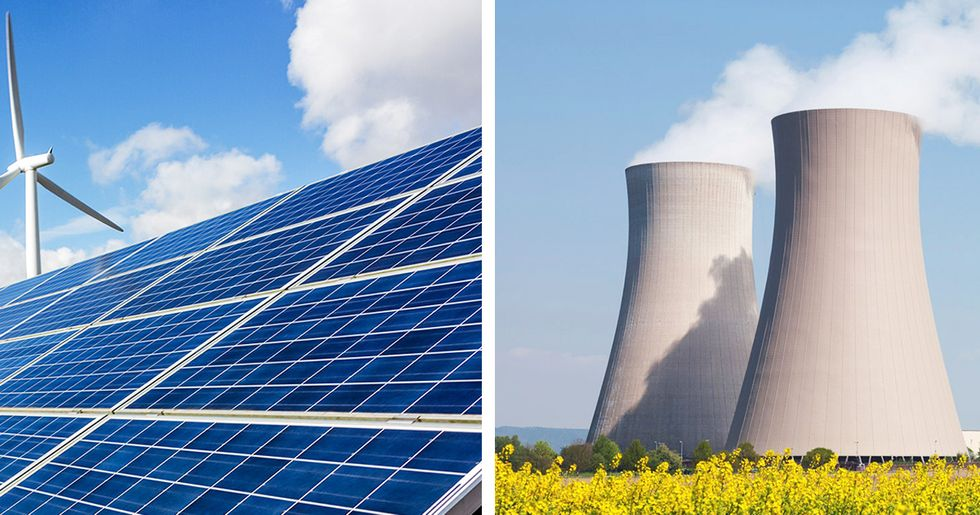 Electricity From Renewables and Nuclear Power in Statistical Dead Heat