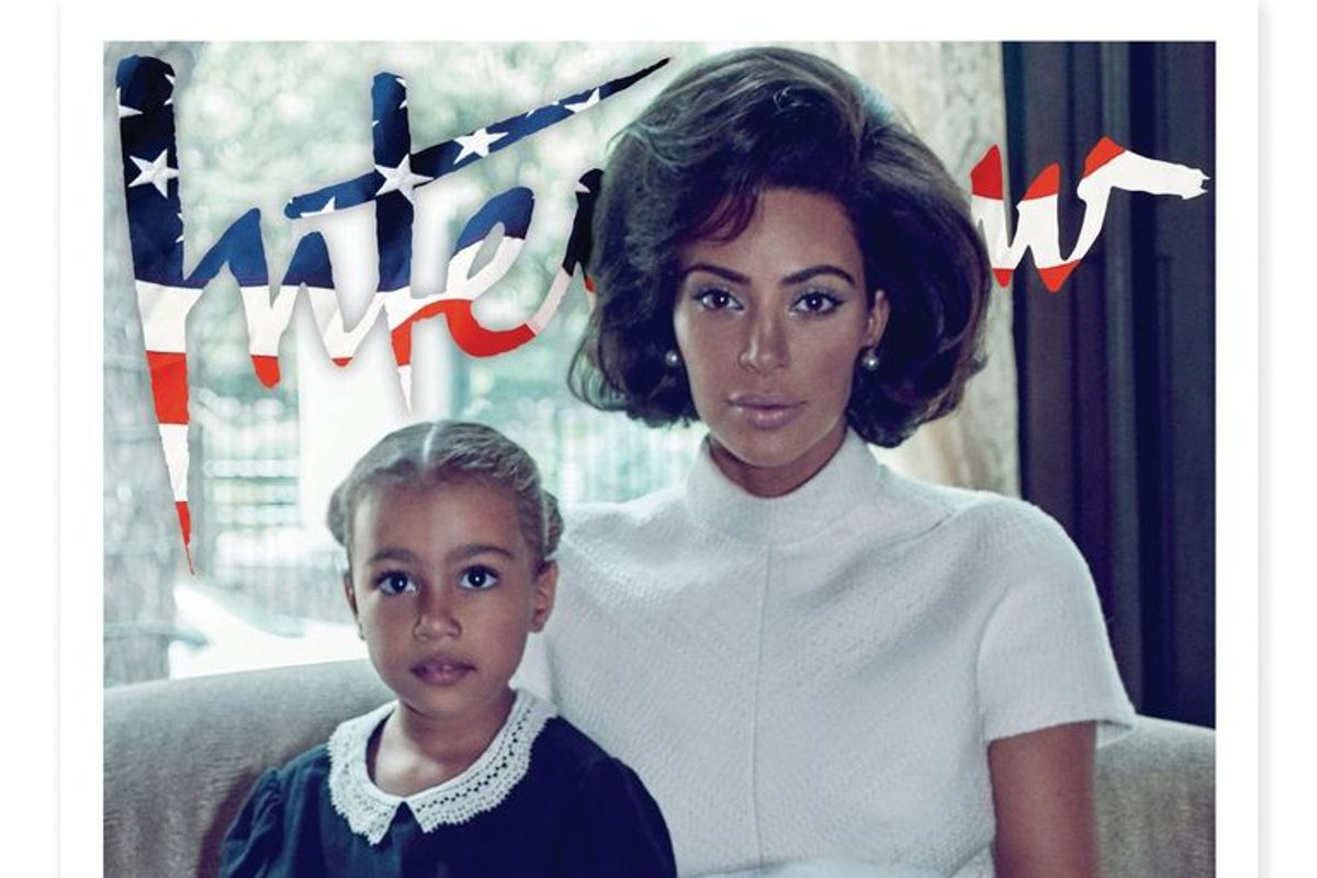 Kim Kardashian as Jackie Kennedy with North West is Nothing Short of a Dream