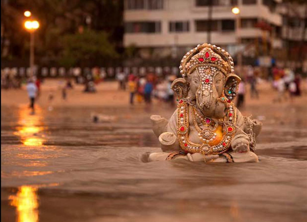 Celebrating The Birth Of The Hindu God Ganesha