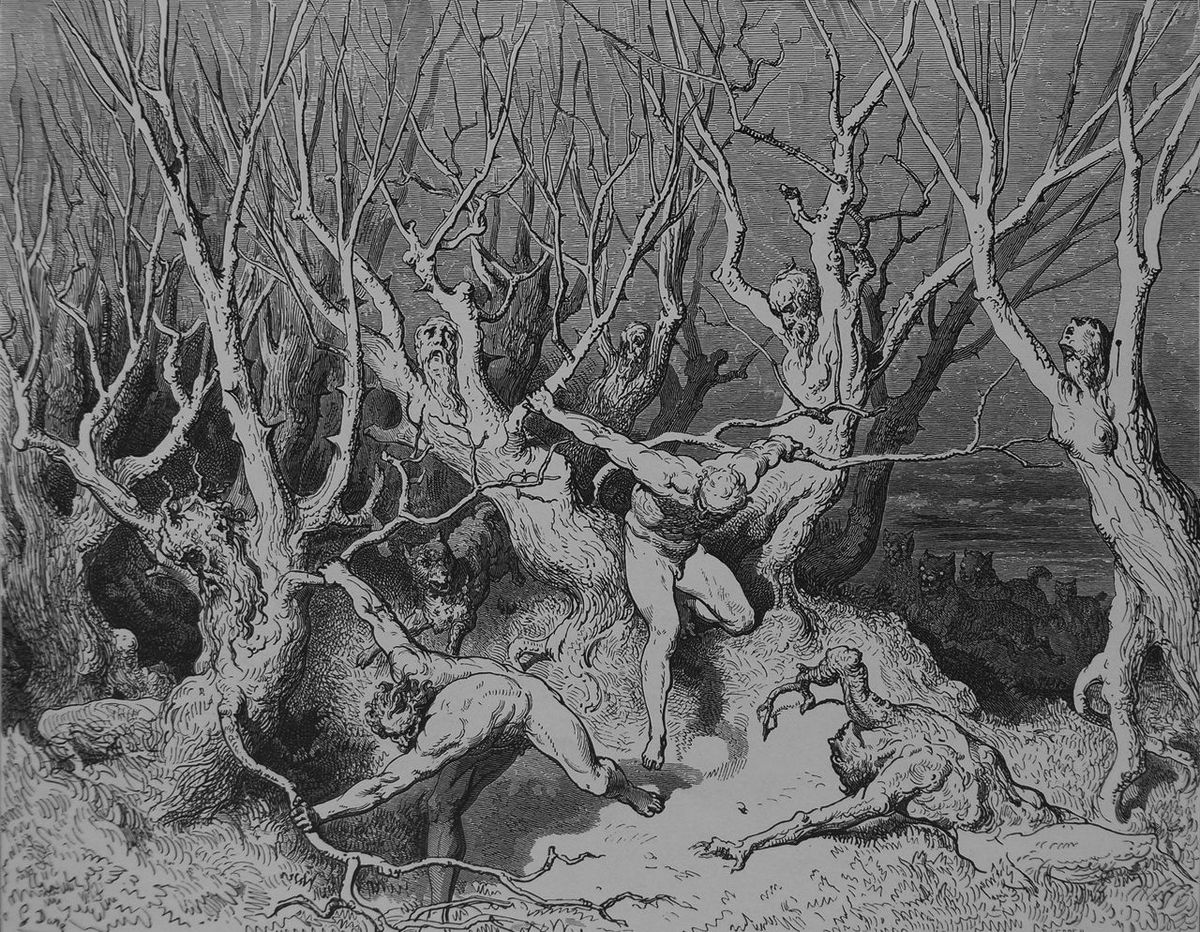 A Walk Through Dante's Inferno: The Wood of Self-Murderers