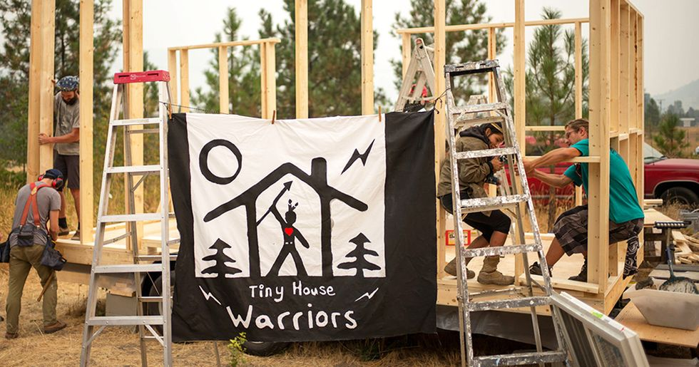 Tiny House in Pipeline's Path Sends Big Message to Kinder Morgan