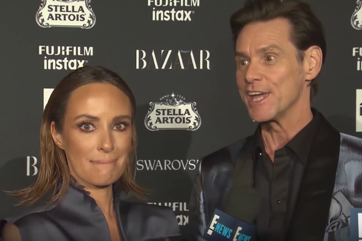 Jim Carrey Attends Glitzy NYFW Party, Calls Everything Meaningless