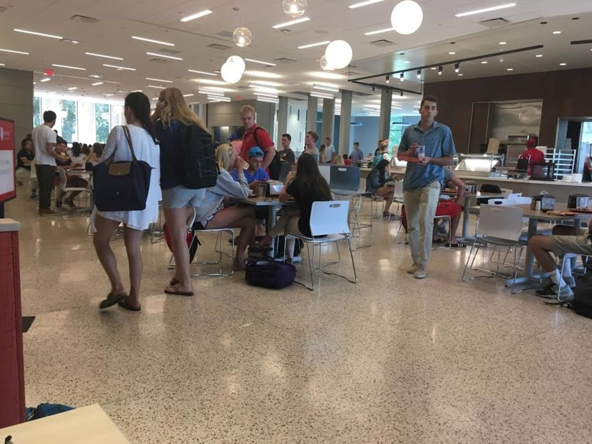 15 First Thoughts You Have Entering The 'Tully Dining Commons'